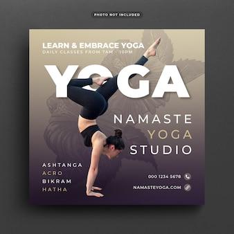 Bannière de yoga ou un modèle