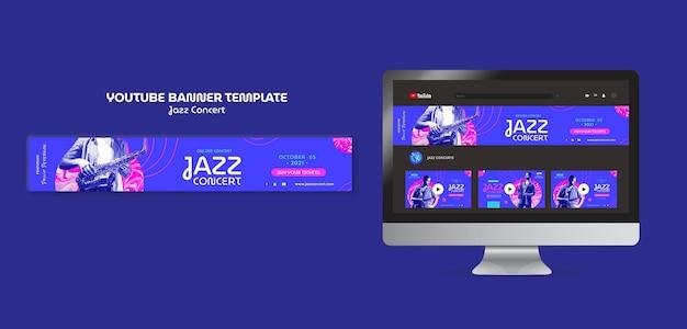 Bannière youtube de concert de jazz