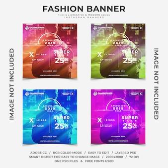Bannières instagram de la mode pour joueurs