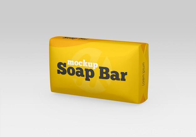 Barre de savon mate et maquette d'emballage