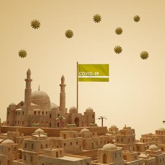 Bâtiment de la ville de coronavirus