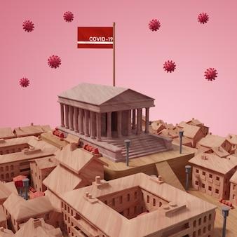 Bâtiment de la ville maquette
