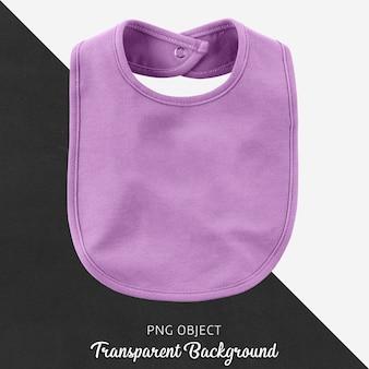 Bavoir violet transparent pour bébé ou enfants