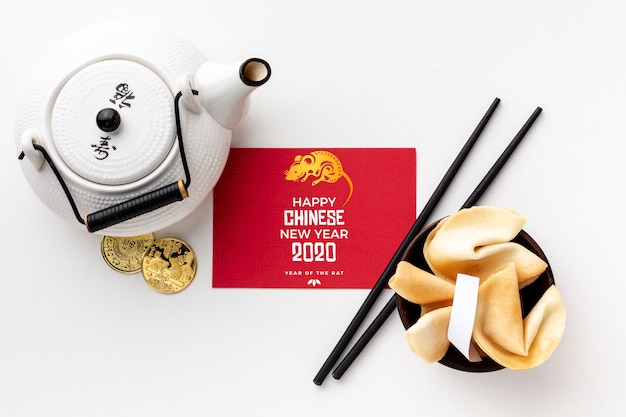 Beau concept du nouvel an chinois