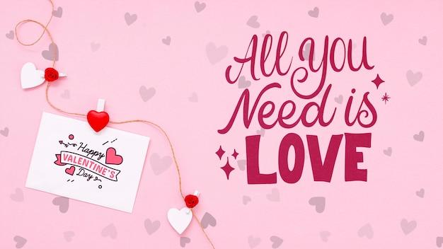 Beau concept de saint valentin