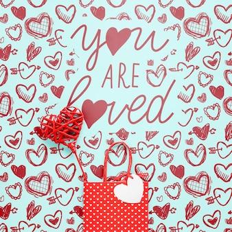 Beau concept de la saint-valentin