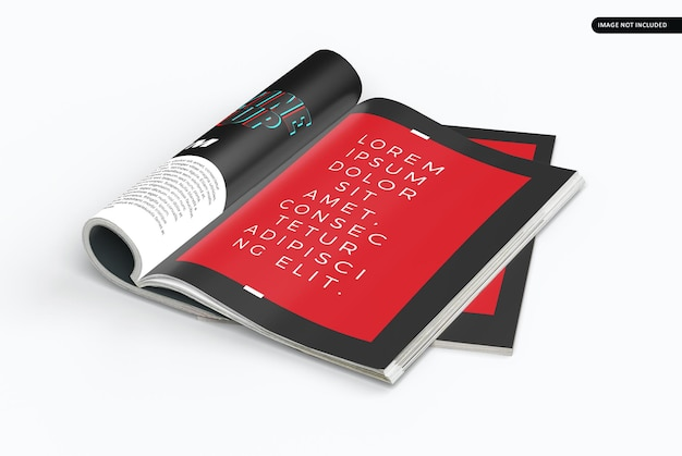 Beau design de maquette de magazine isolé