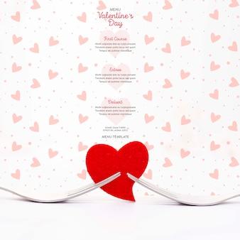 Beau menu de saint valentin