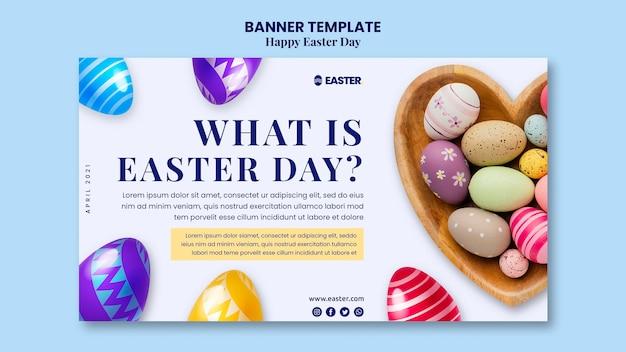 Beau modèle de bannière d'événement de jour de pâques