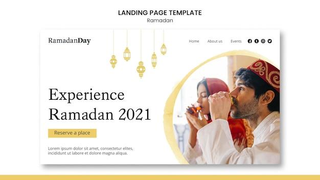 Beau modèle de page d'accueil du ramadan