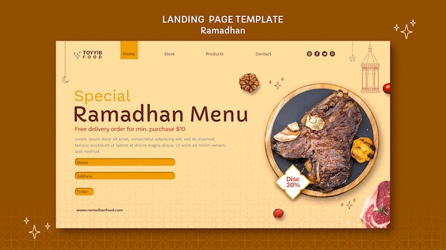 Beau modèle web ramadan