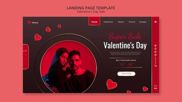 Beau modèle web de la saint-valentin