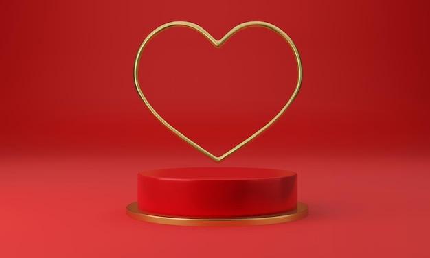 Beau piédestral de coeur avec un concept de design minimal