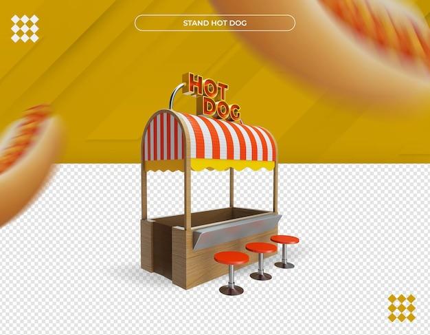 Beau stand de hot-dog rendu 3d