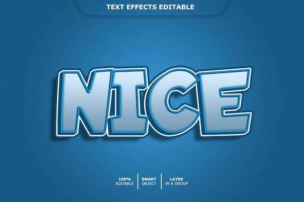 Bel effet de style de texte 3d