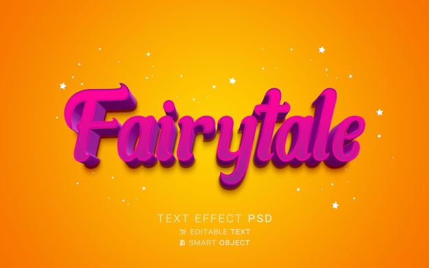 Bel effet de texte de conte de fées