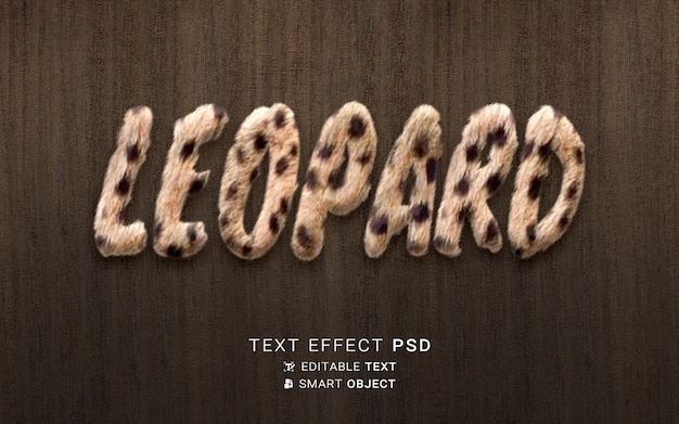 Bel effet de texte léopard