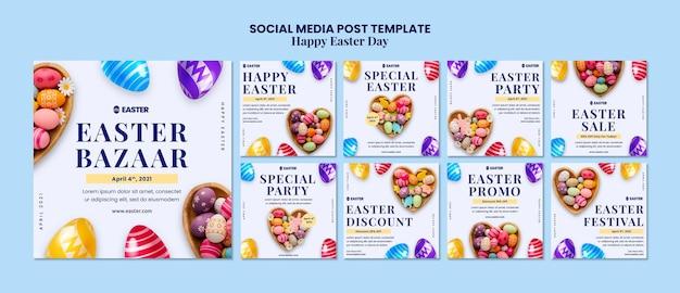 Bel événement du jour de pâques instagram posts