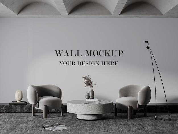 Belle chambre avec maquette de mur vide