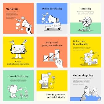 Belle collection de modèles d'entreprise en ligne