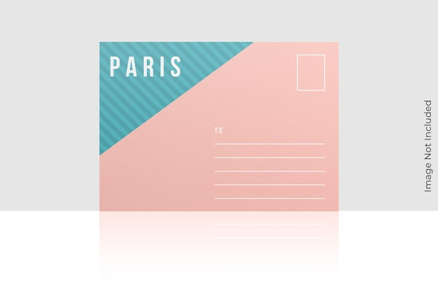 Belle conception de maquette de carte postale isolée