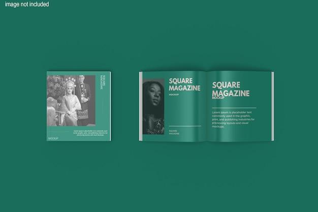 Belle conception de maquette de magazine carré