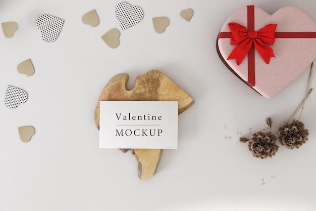 Belle maquette de carte-cadeau de la saint-valentin