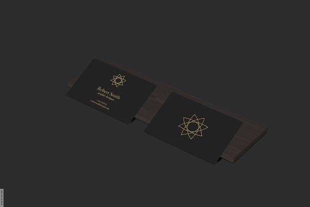 Belle maquette de carte de visite avec lumière noire
