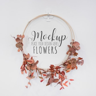 Belle maquette de concept de fleuriste
