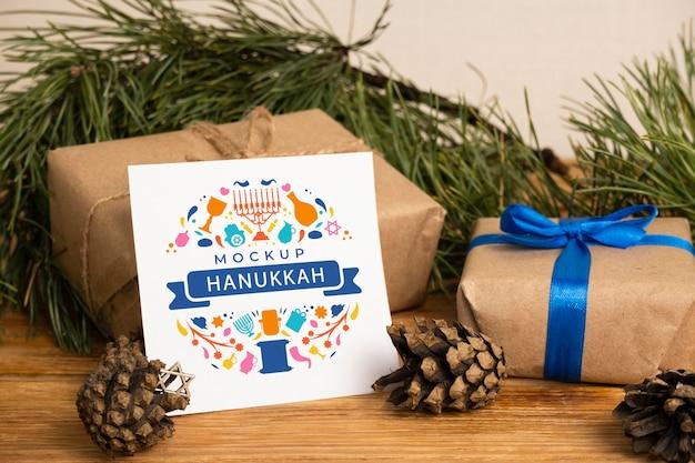 Belle maquette de concept de hanoukka