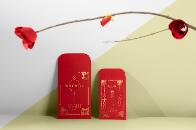 Belle maquette de concept de nouvel an chinois