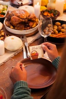 Belle maquette de concept de thanksgiving