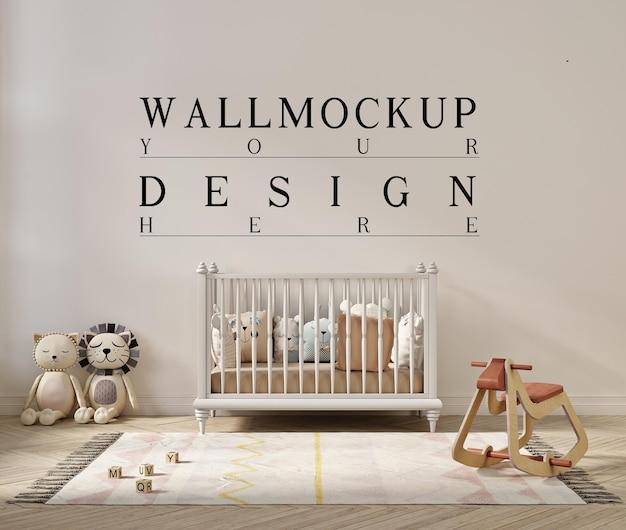 Belle maquette de mur dans une jolie chambre d'enfant
