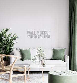 Belle maquette de mur de salon intérieur