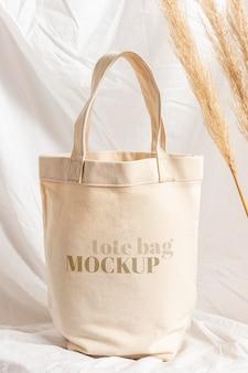 Belle maquette de sac fourre-tout en textile