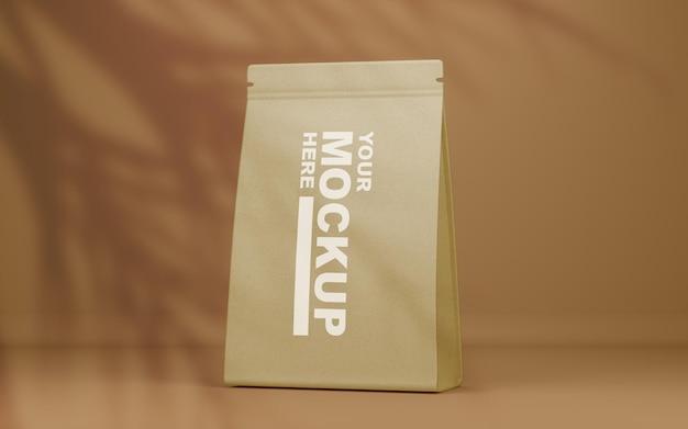 Belle maquette de sac de nourriture en papier réaliste