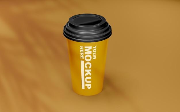 Belle maquette de tasse à café réaliste
