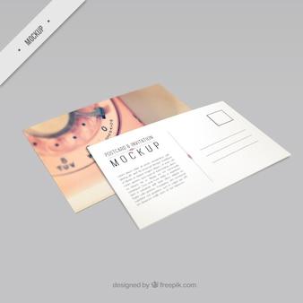 Belle téléphone carte postale mockup