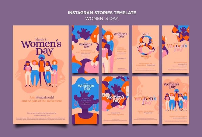 Belles histoires instagram pour la journée des femmes