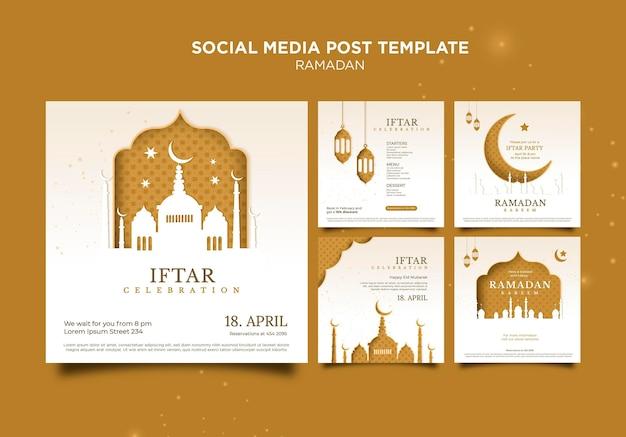 Belles publications sur les réseaux sociaux du ramadan