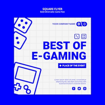 Best of e-gaming games jam fest flyer carré