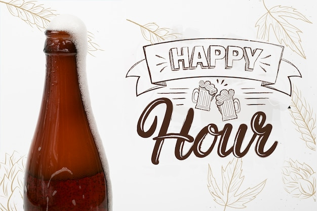Bière artisanale disponible pendant l'happy hour
