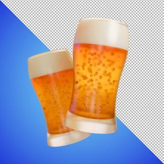 Bière ou vin rendu 3d pour les images de prévisualisation et l'échantillon de produit
