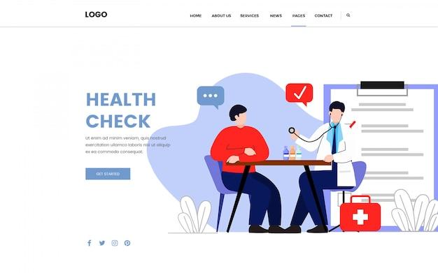 Bilan de santé consultation médecin page de destination