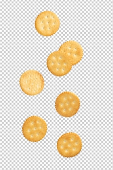 Biscuits De Craquelins Tombant, Découpe. PSD Premium