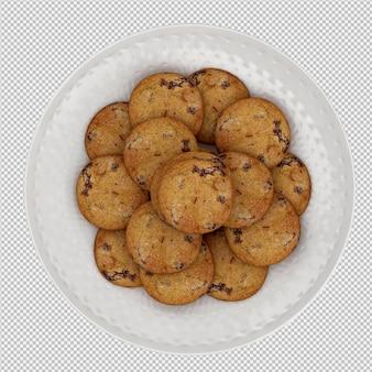Biscuits rendu 3d isolé
