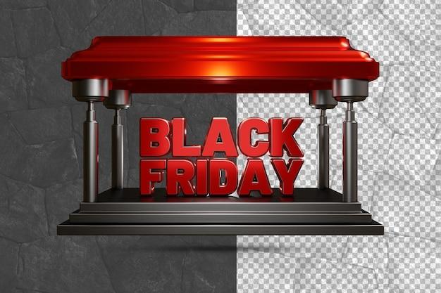 Black friday 3d shop design fond transparent psd