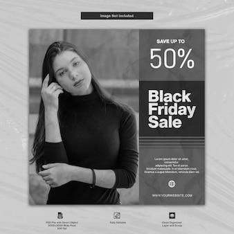 Black friday fashion sale social media template design