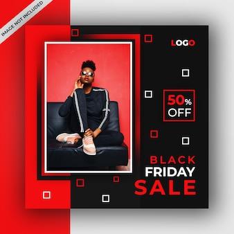 Black friday vente poste de médias sociaux