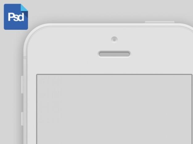 Blanc maquette iphone 5